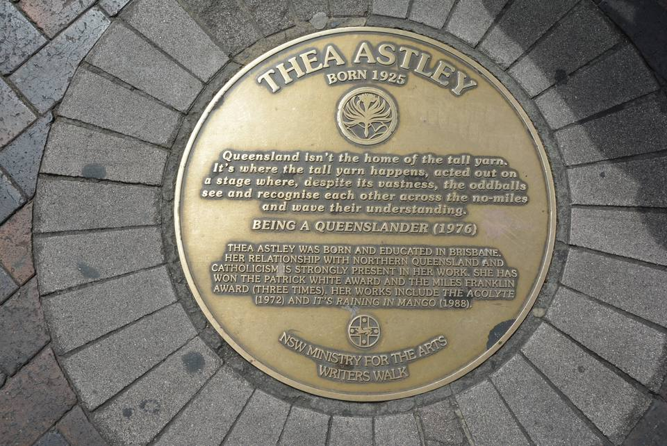Thea Astley plaque at the Writers Walk, Circular Quay, Sydney