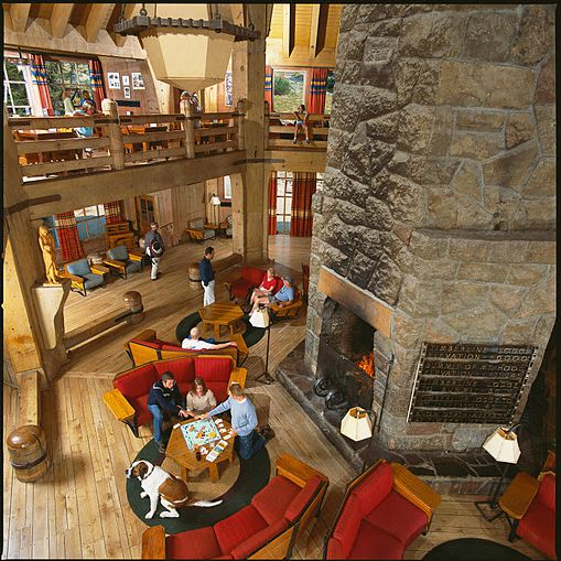 Picture of the Lobby at Timberline Lodge in Oregon