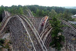 Rampage coaster at Alabama Splash Adventure.