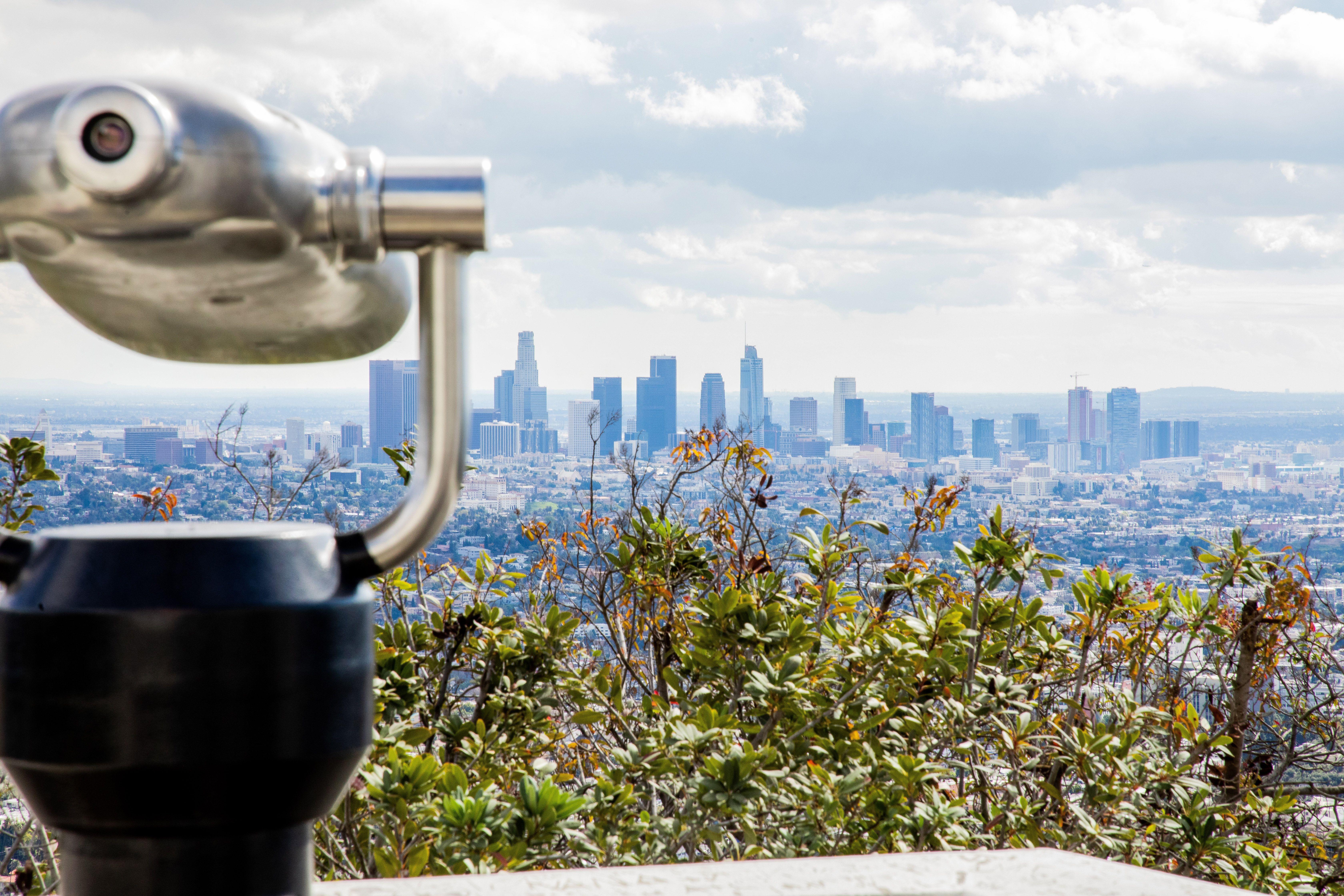 La vista del centro de Los Ángeles desde el observatorio Griffith