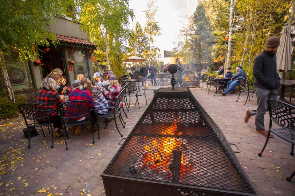 McMenamins Theater and Outdoor Pub with fire pit