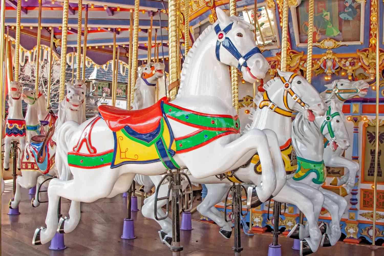 Horses on the King Aruthur Carrousel