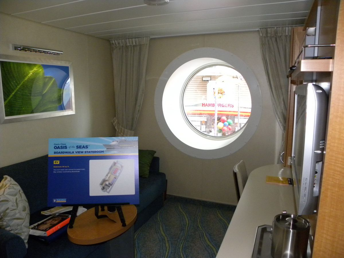 Image result for oasis of the seas boardwalk view interior cabin