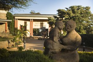 Statue in front of Nairobi National museum.