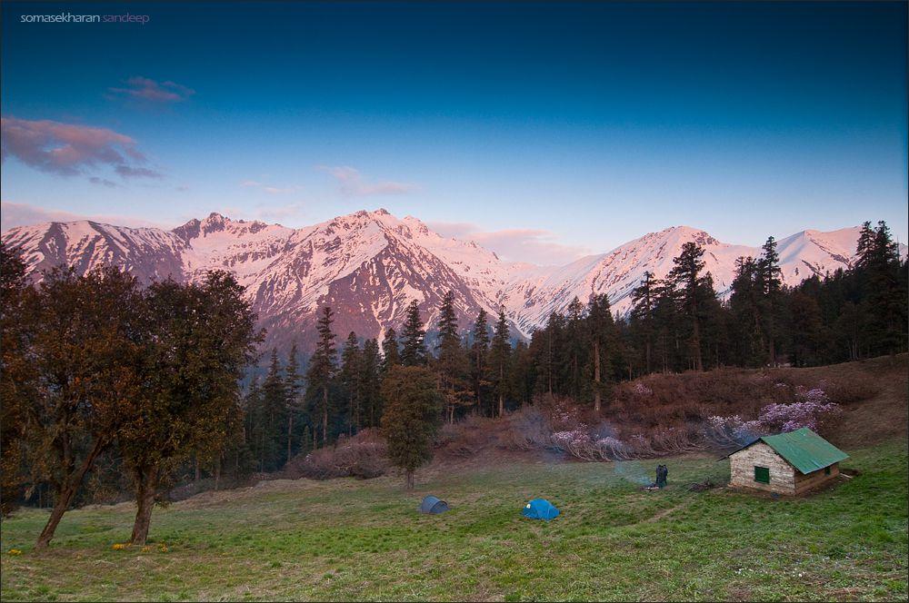 Campsite at Great Himalayan National Park.