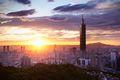Sunrise over Taipei
