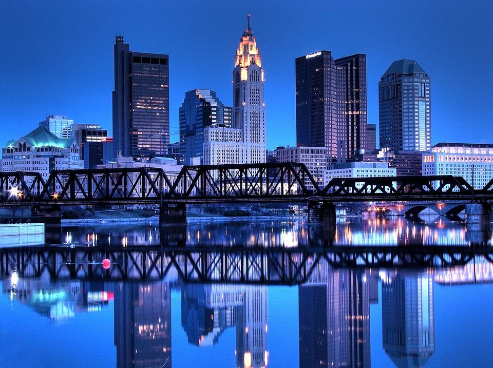 Columbus, Ohio, Skyline Reflected