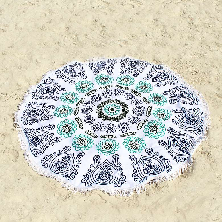 Ricdecor Mandala Large Round Beach Blanket