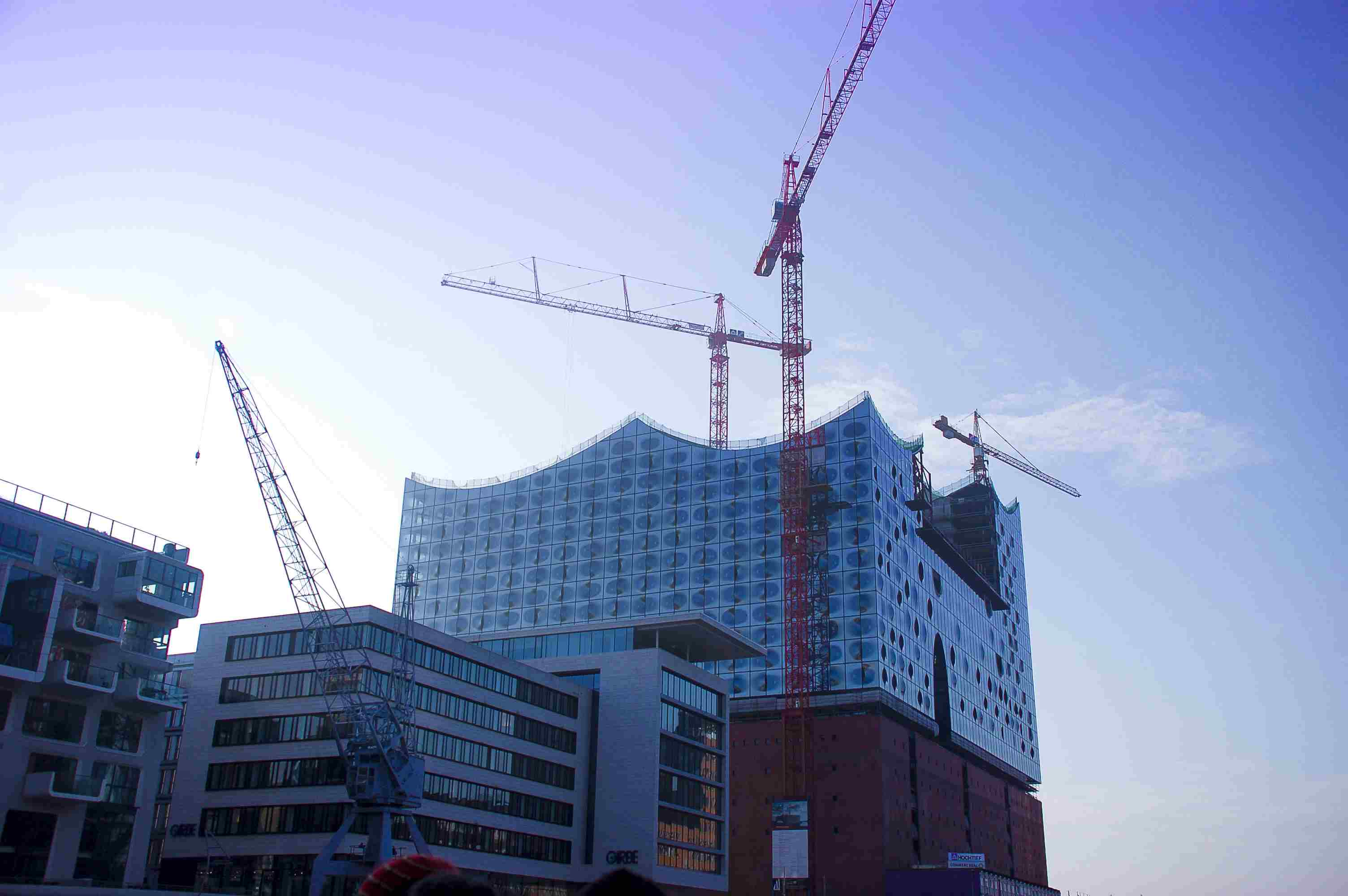 The opera house being built in Hafen City