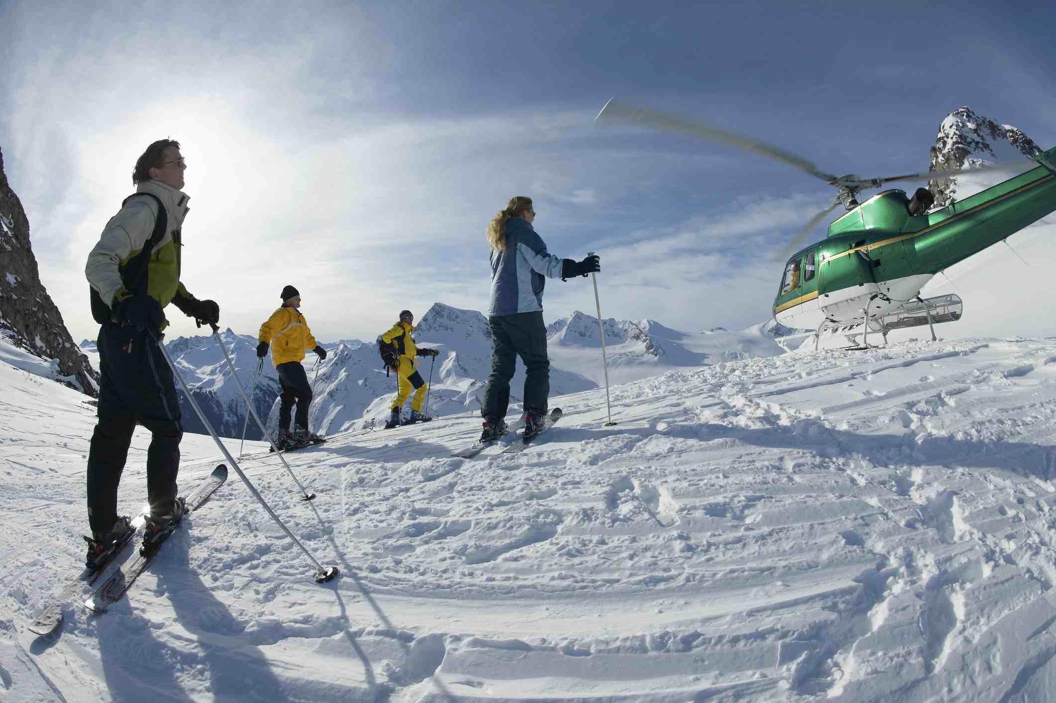 Heli skiing.