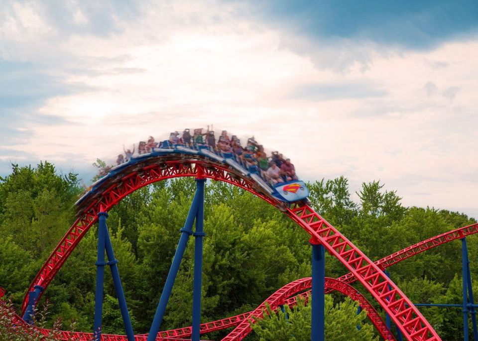 Superman the Ride coaster Six Flags New England