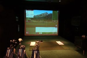 Golf simulator on the Europa 2 cruise ship