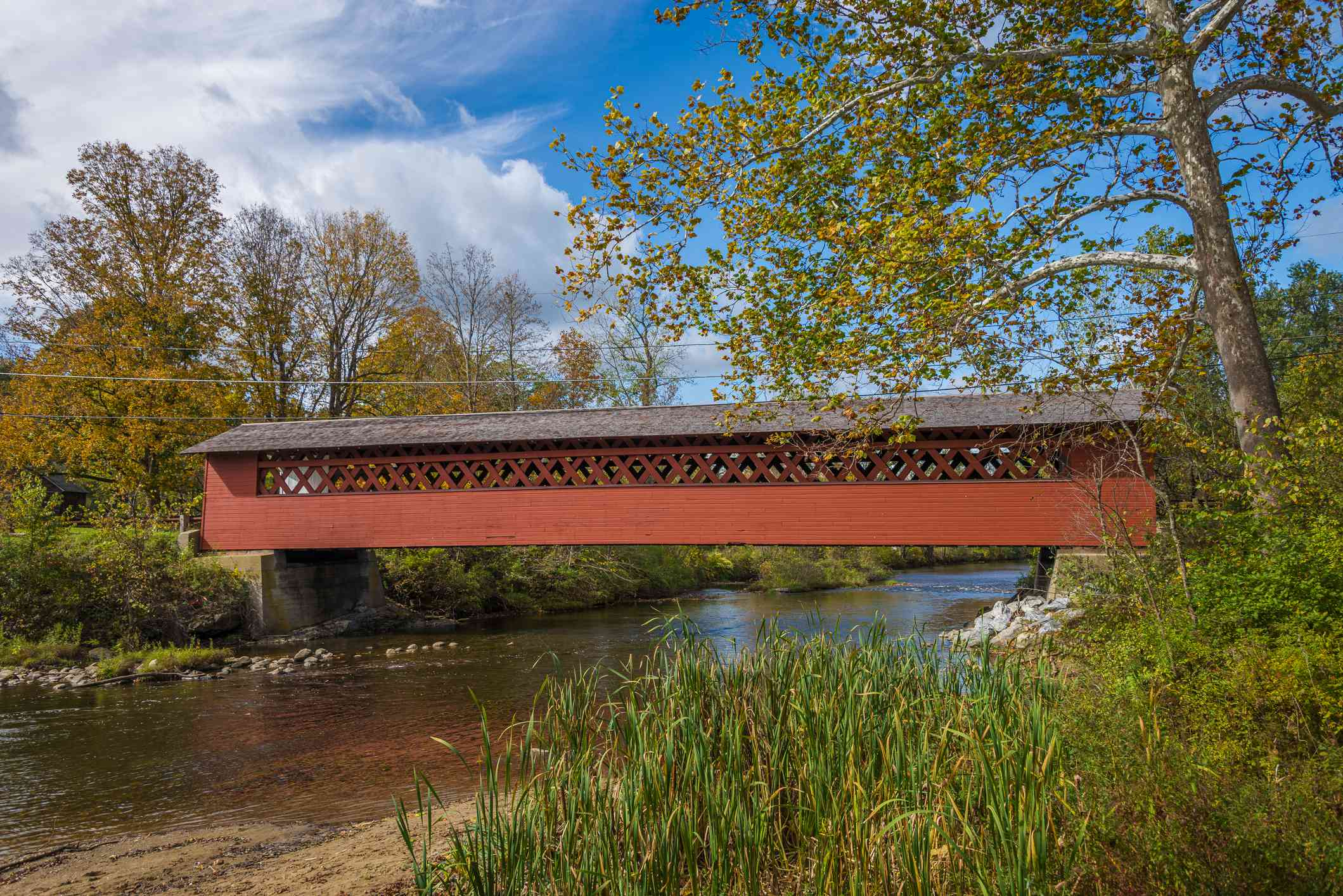 Red Covered Bridge in Bennington, Vermont