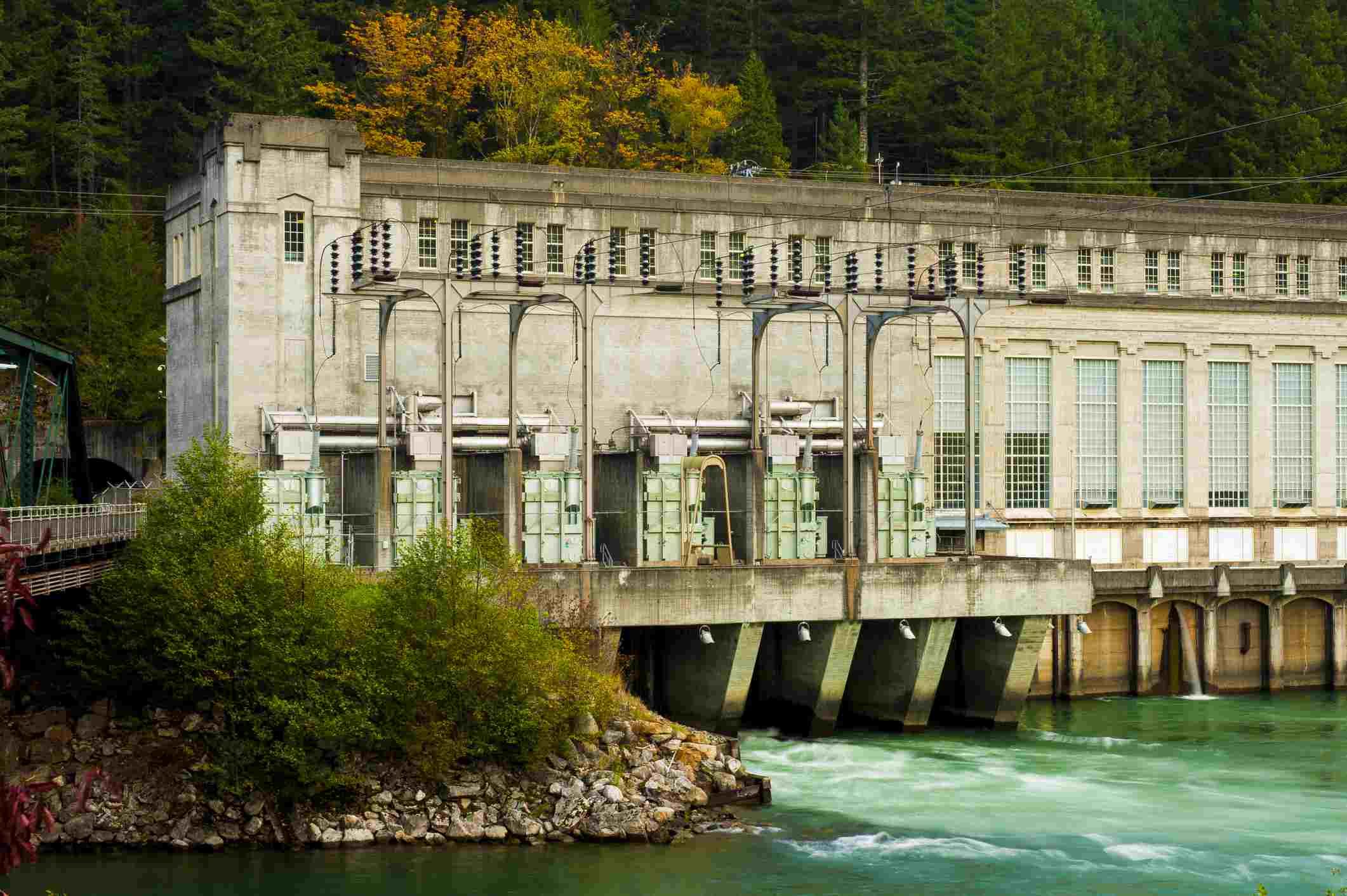 Vistas a lo largo del río Skagit