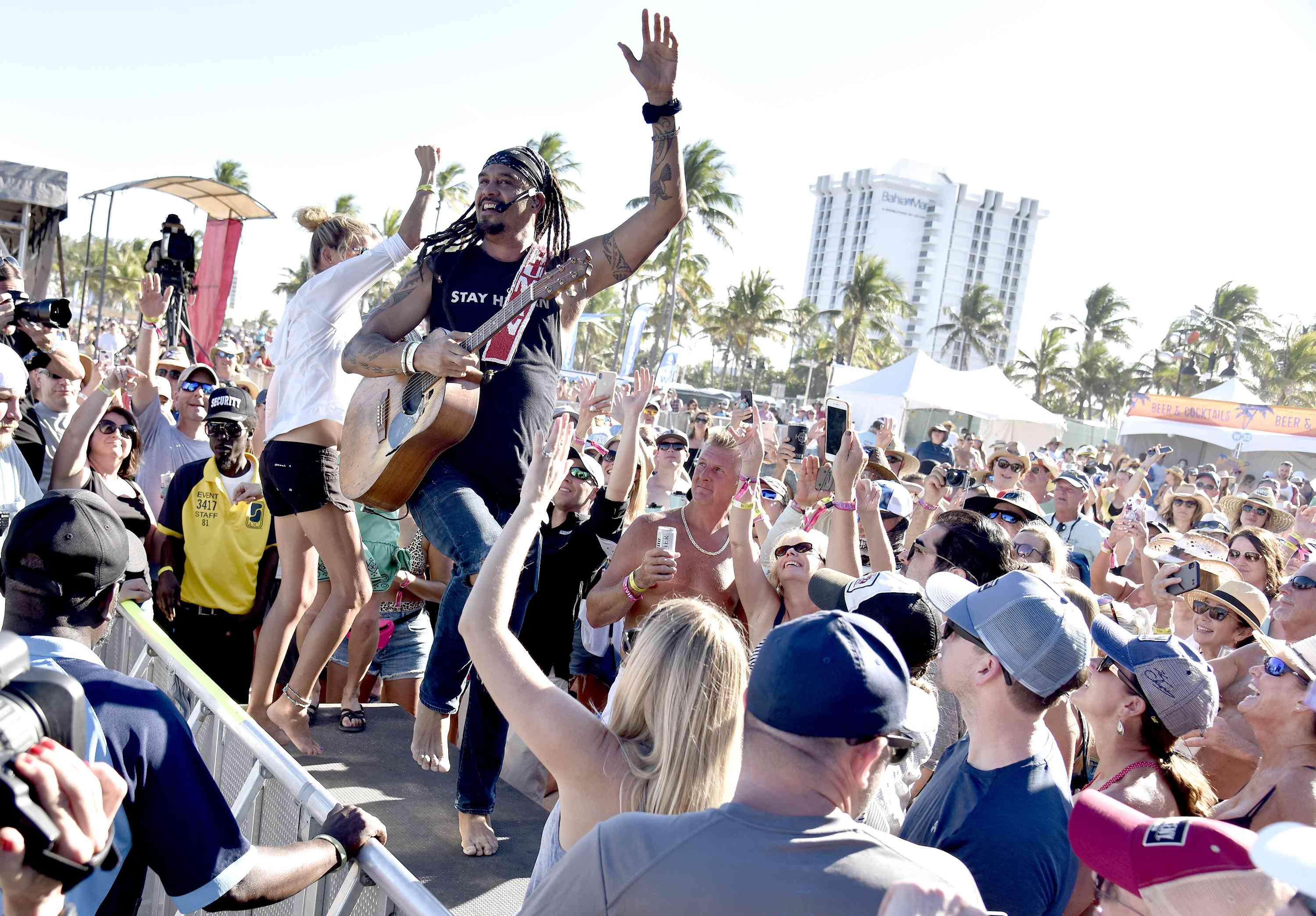 Michael Franti of Michael Franti & Spearhead performs during the 2019 Tortuga Music Festival