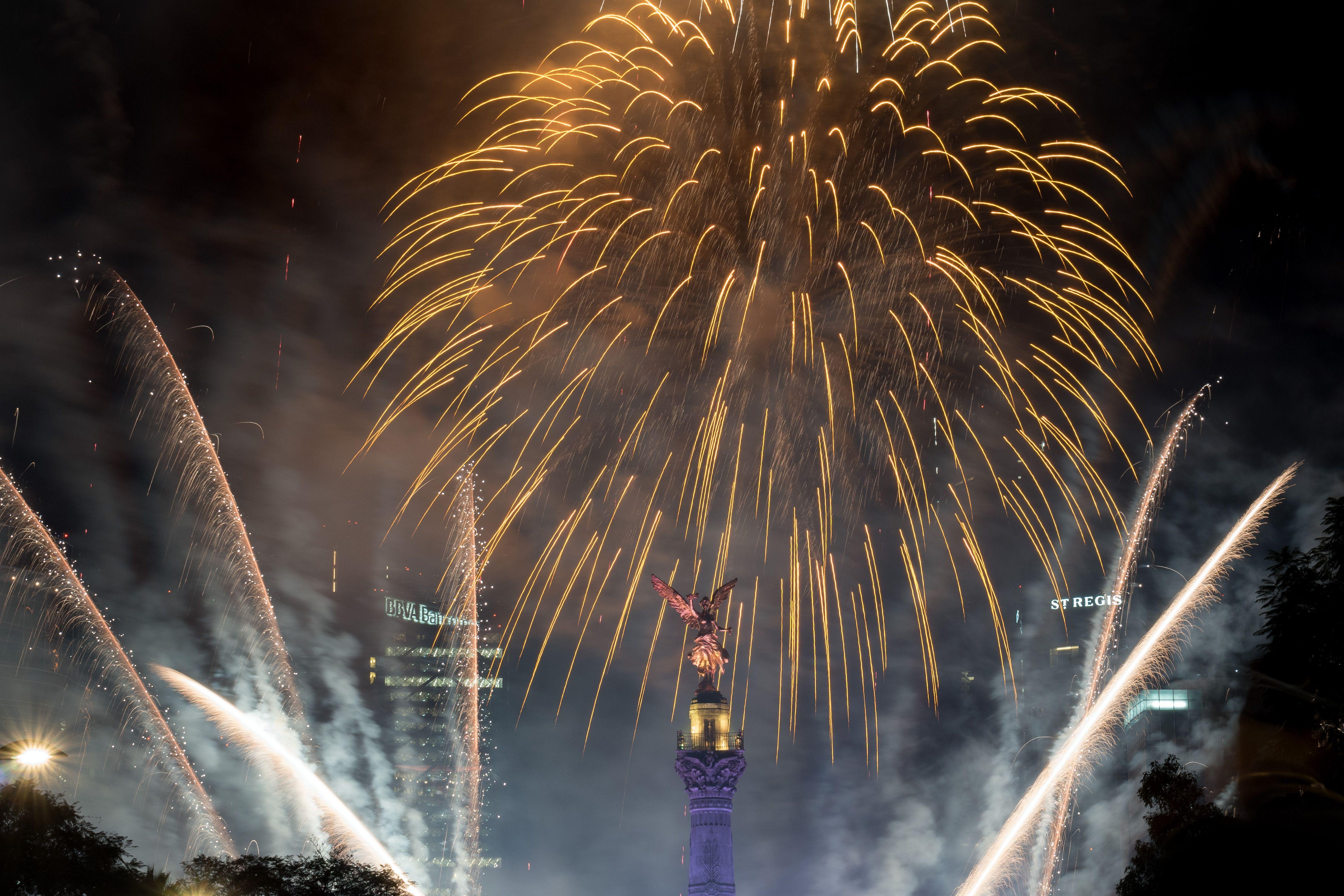 Mexico City fireworks