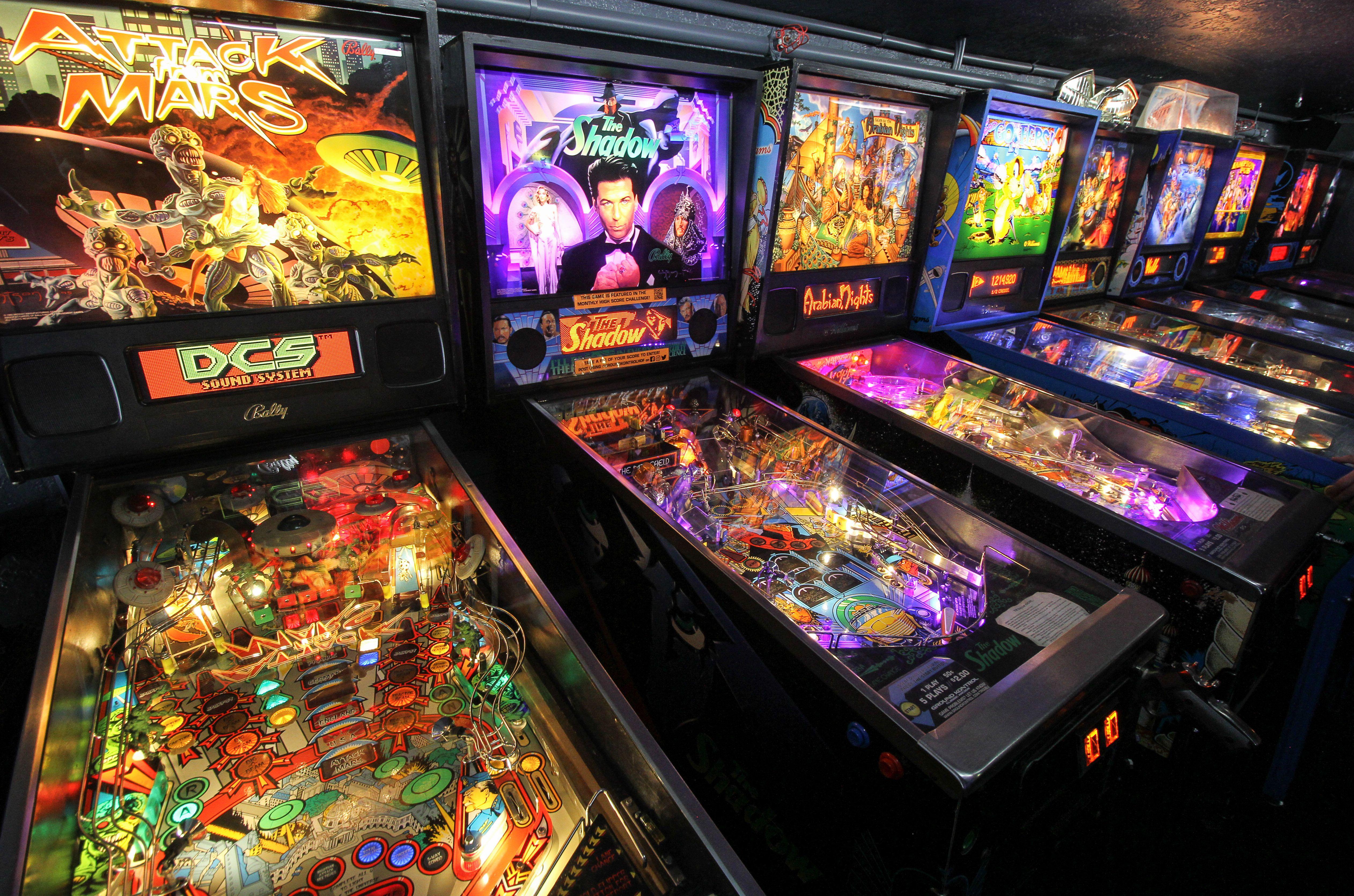 Pinball machines at Ground Kontrol