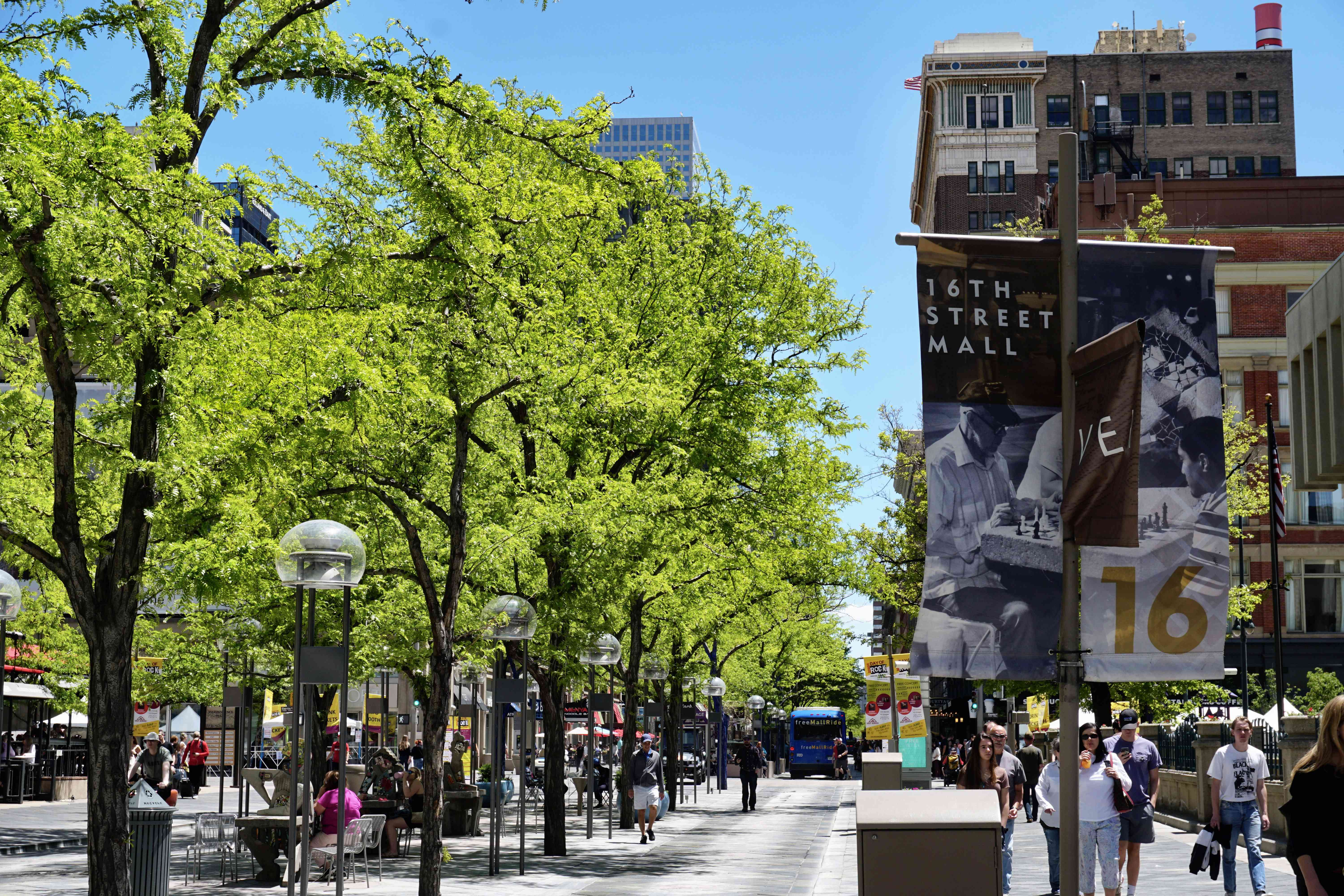 The 16th Street Mall in Denver