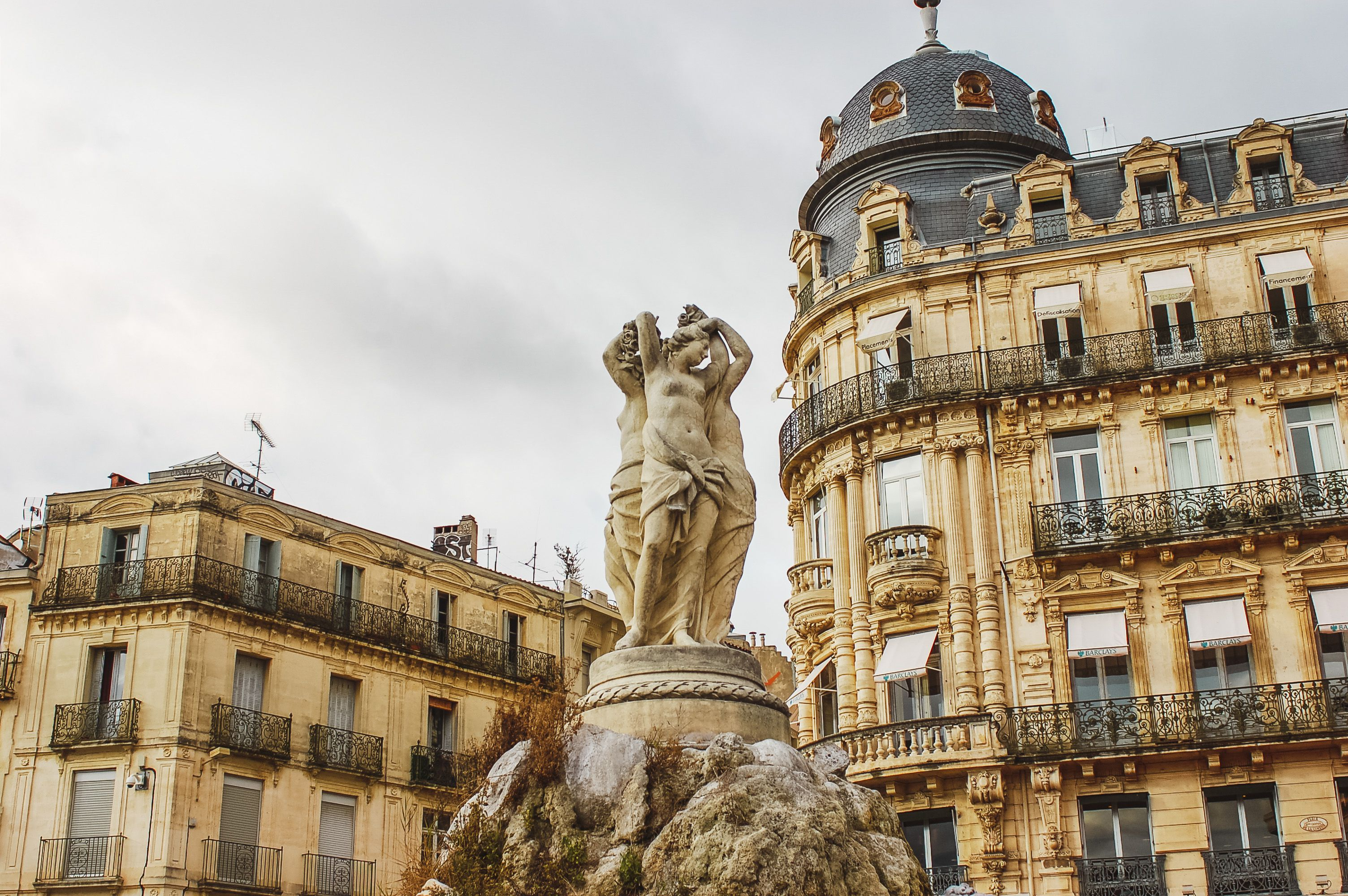 Statues in Montpellier