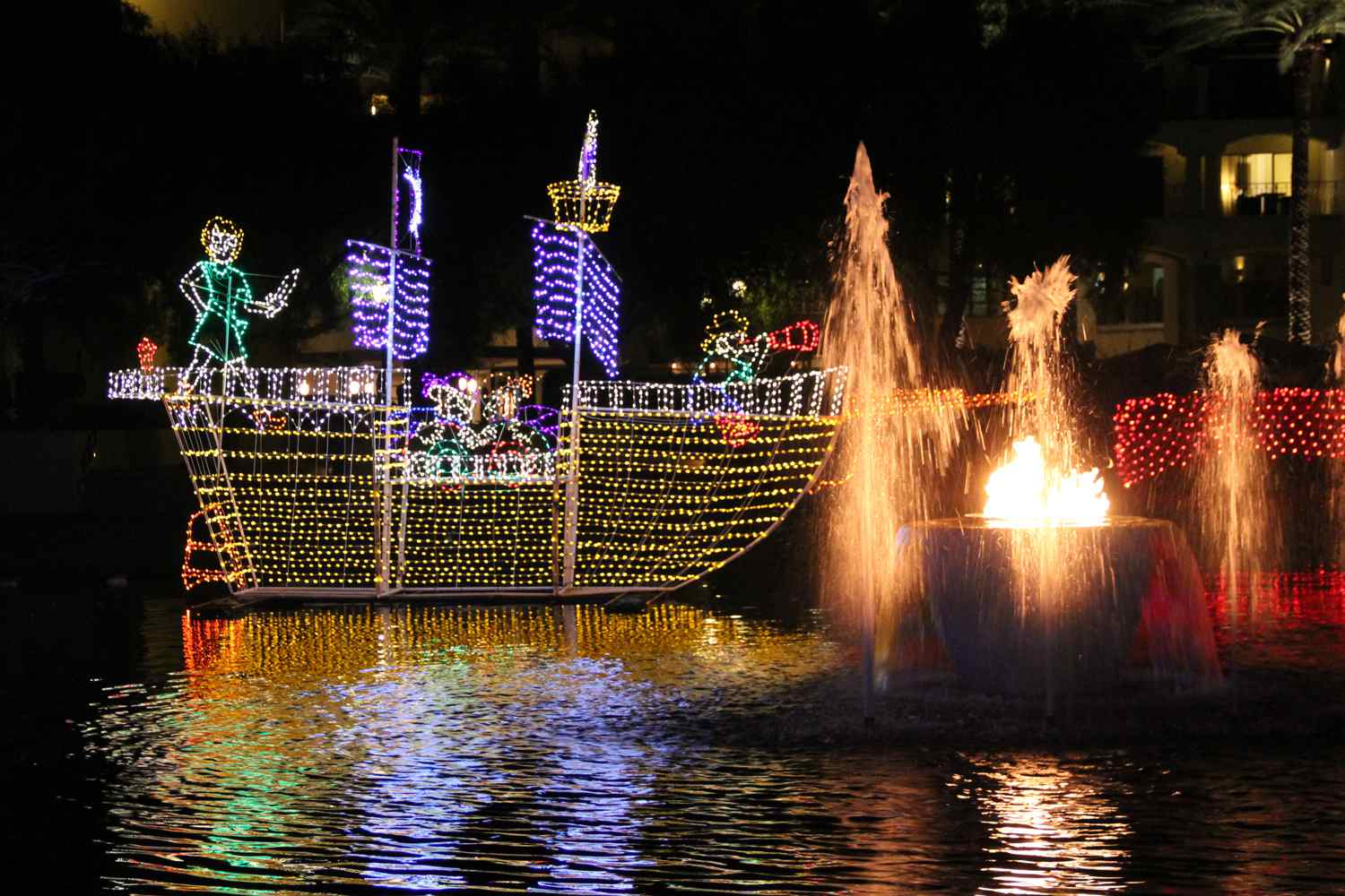 Christmas At The Princess.Holiday Lights In Phoenix Glitter And Glow In December