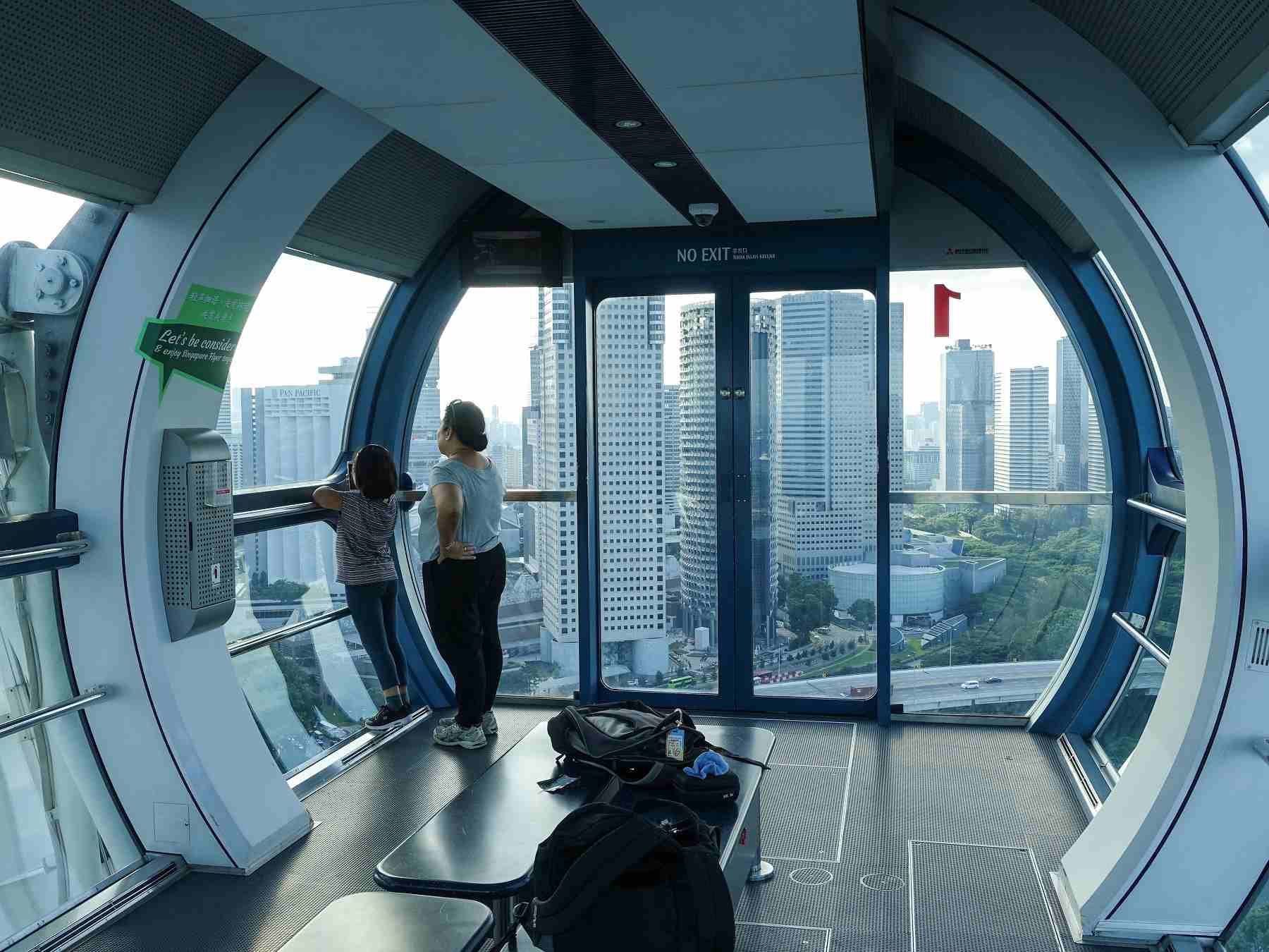 Cabin interior at the Singapore Flyer