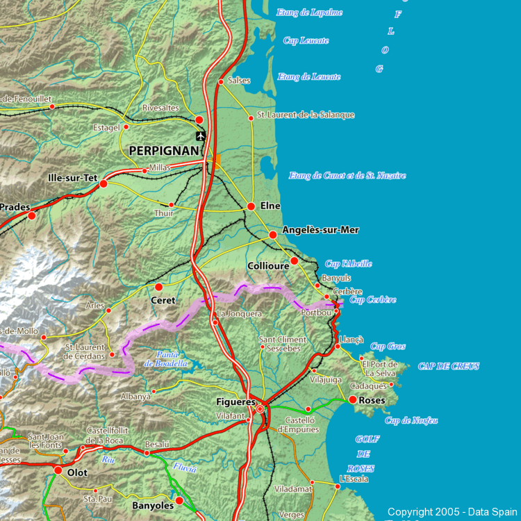 Map Of Southern France And Spain.Large Map Of Spain S Cities And Regions
