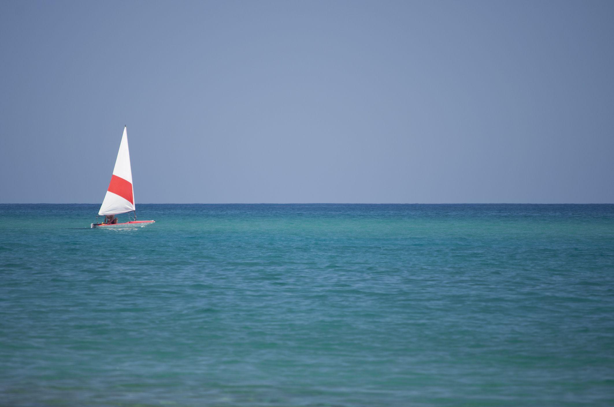 Small Sailboats on Mediterranean sea