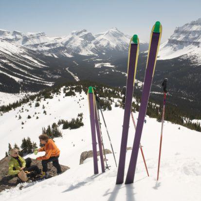 Skiing at Banff National Park, Alberta, Canada
