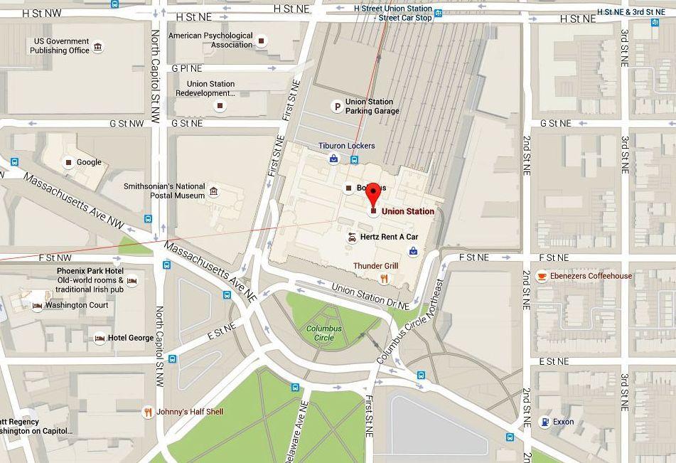 Union Station Washington Dc Map Union Station Map and Directions: Washington DC