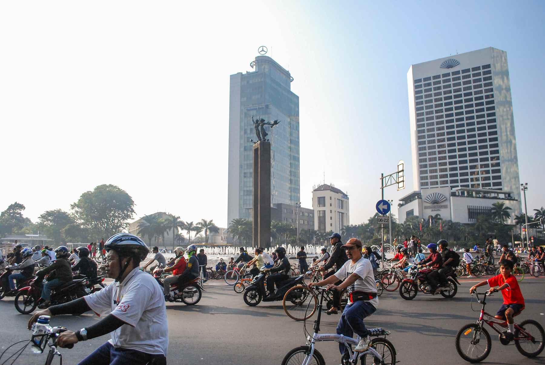 Bikes around Bundaran HI in Jakarta