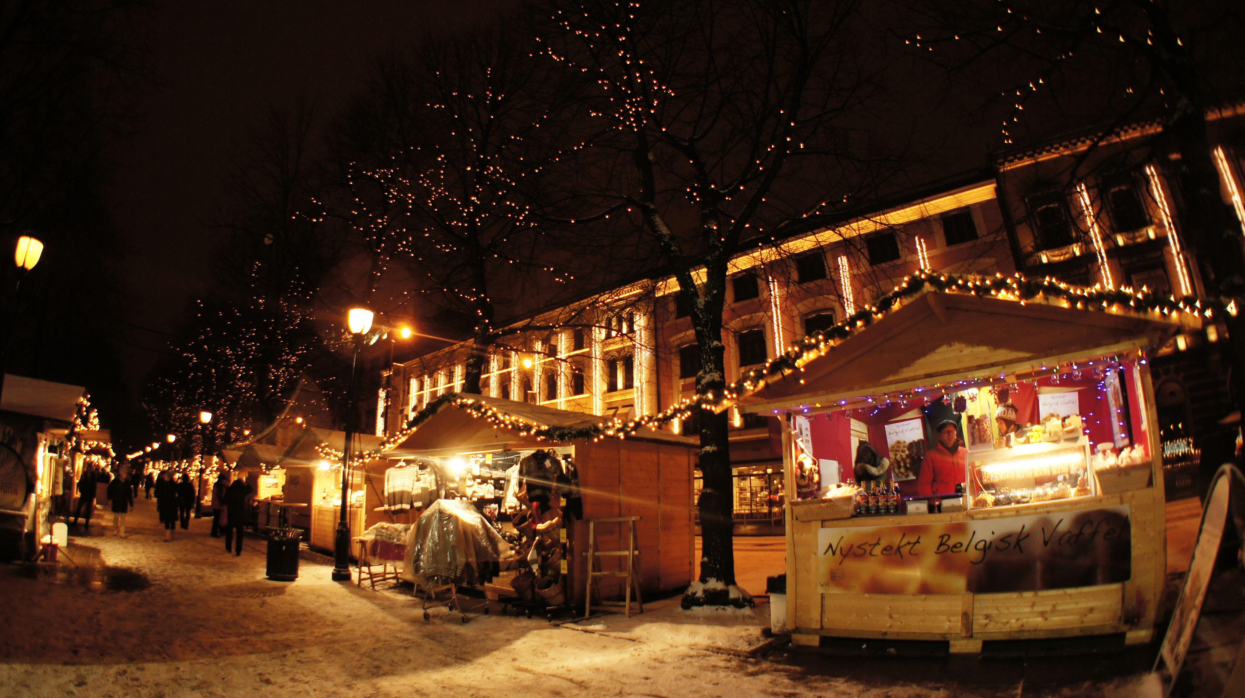 Christmas market in Norway