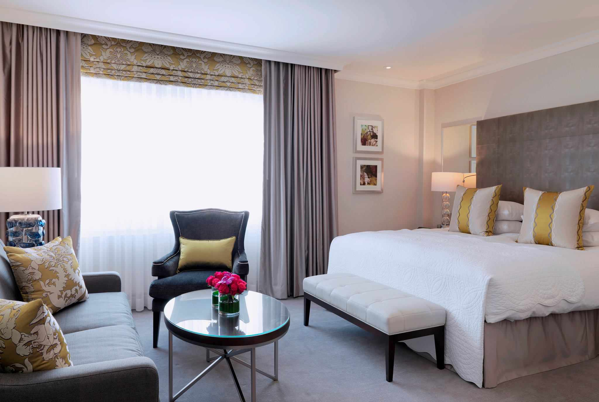Interior of hotel room at Hotel Continental Oslo