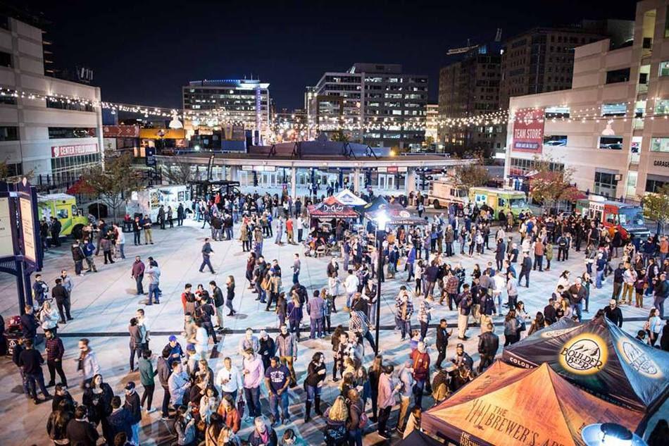 Aerial view of people attending DC Beer Festival