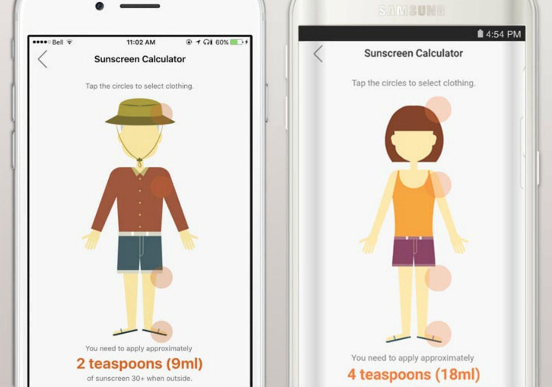 QSun App helps prevent sunburn