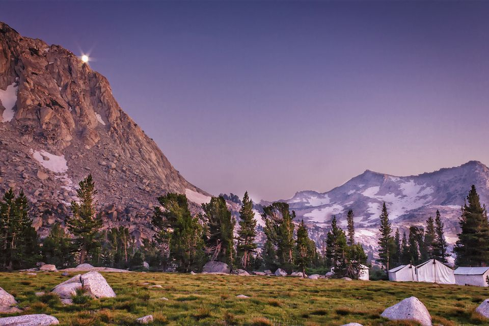 Moon Rise, Vogelsang High Sierra Camp, Yosemite