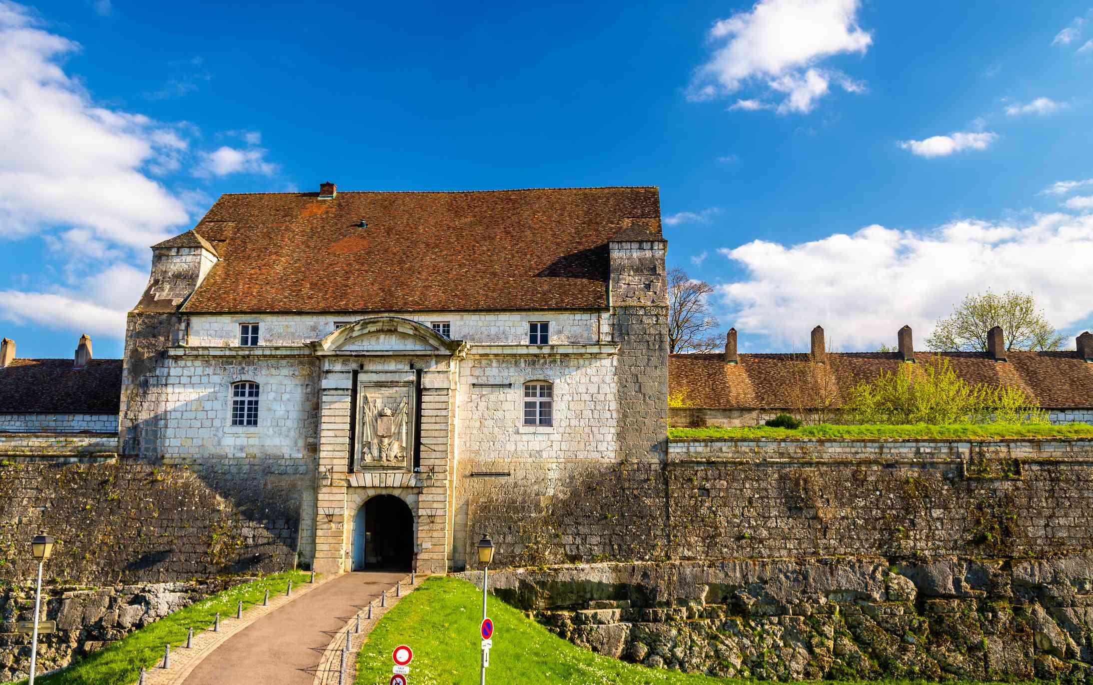 Entrance gate of the Citadel of Besancon - France