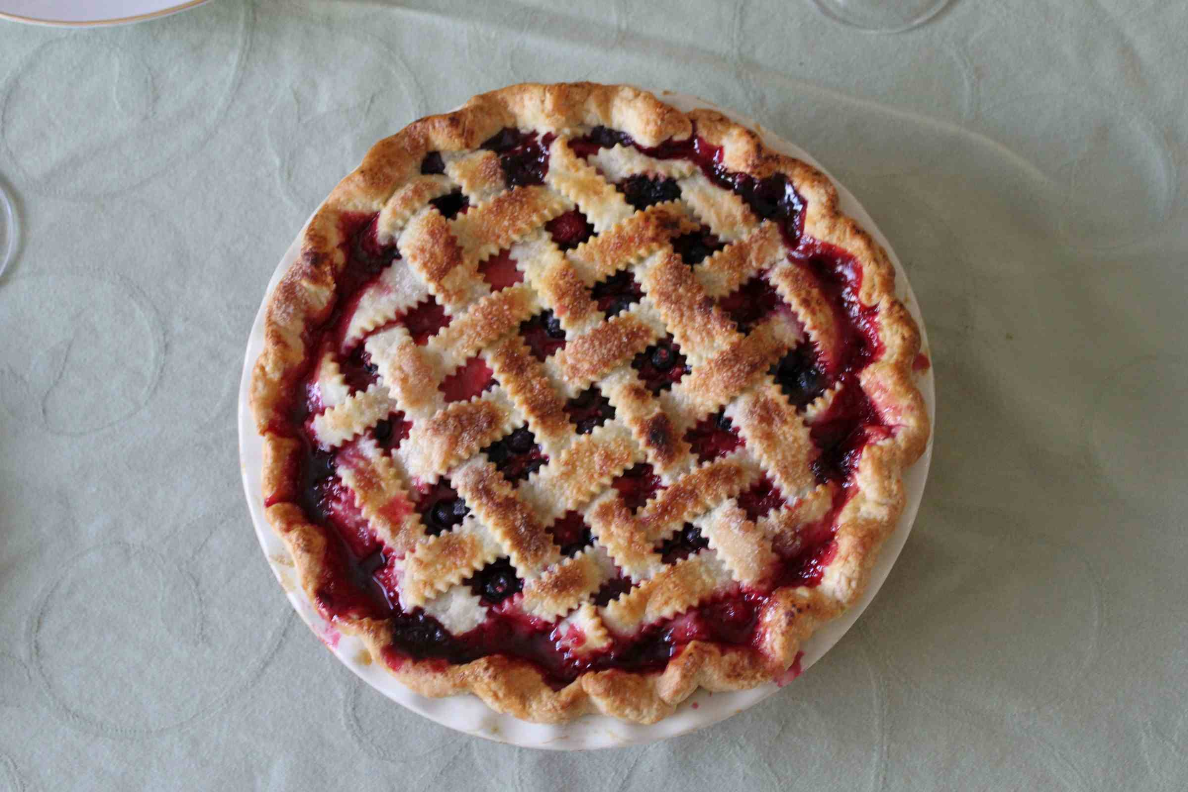 Mustikkapiirakka or blueberry pie.