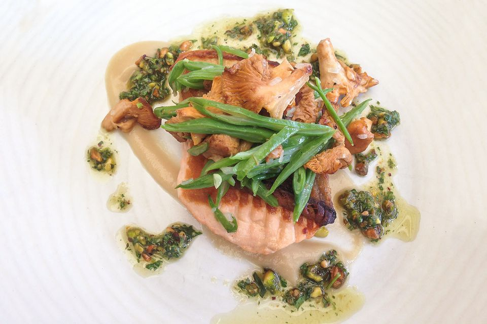 Salmon for Lunch in San Diego