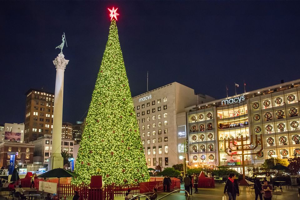 Macys Christmas Tree.San Francisco S Union Square At Christmas Photo Tour