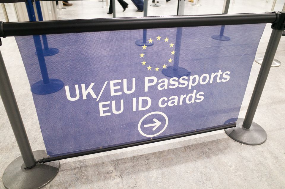 EU and UK Passport Control Signage