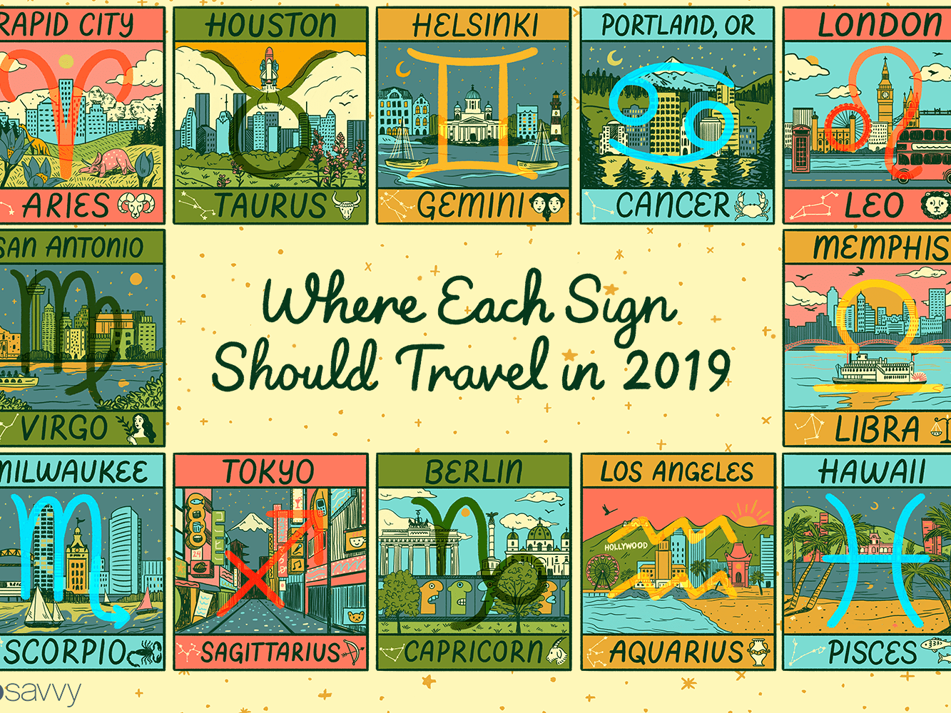The Best Vacation Destinations in 2019 Based On Your Zodiac Sign