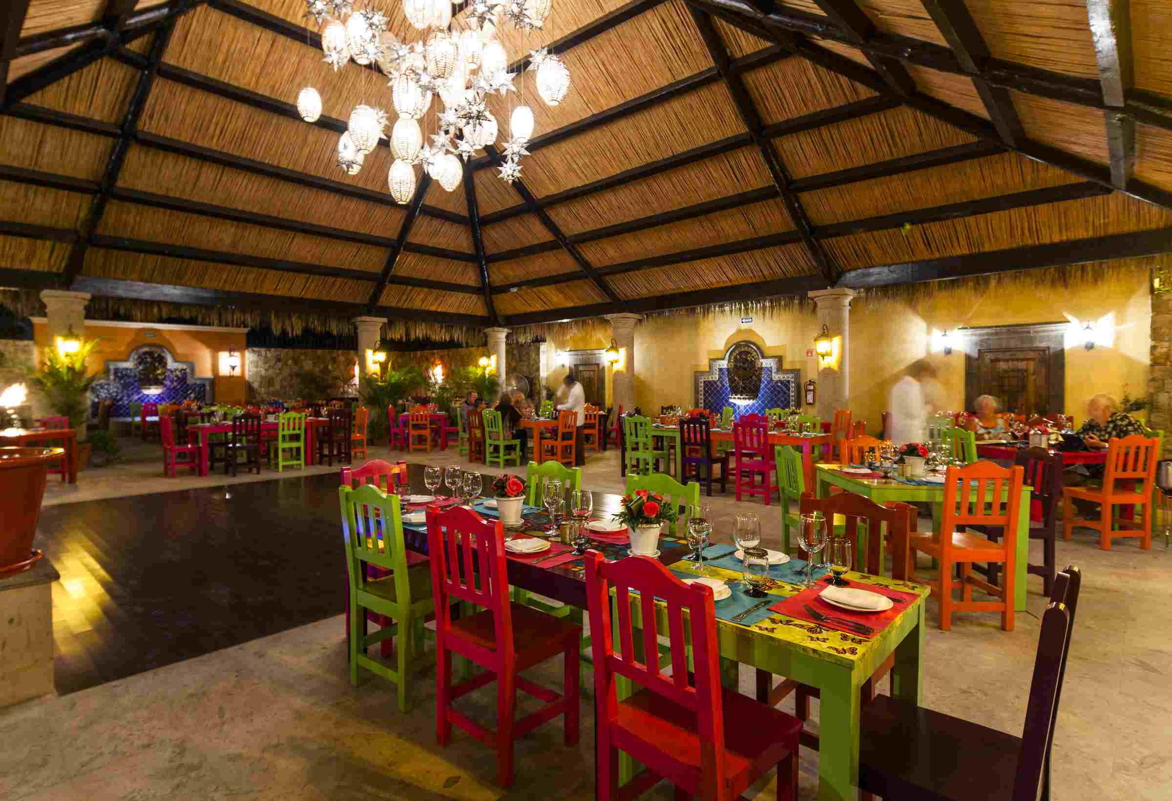 The dining room at Don Sanchez in San Jose del Cabo