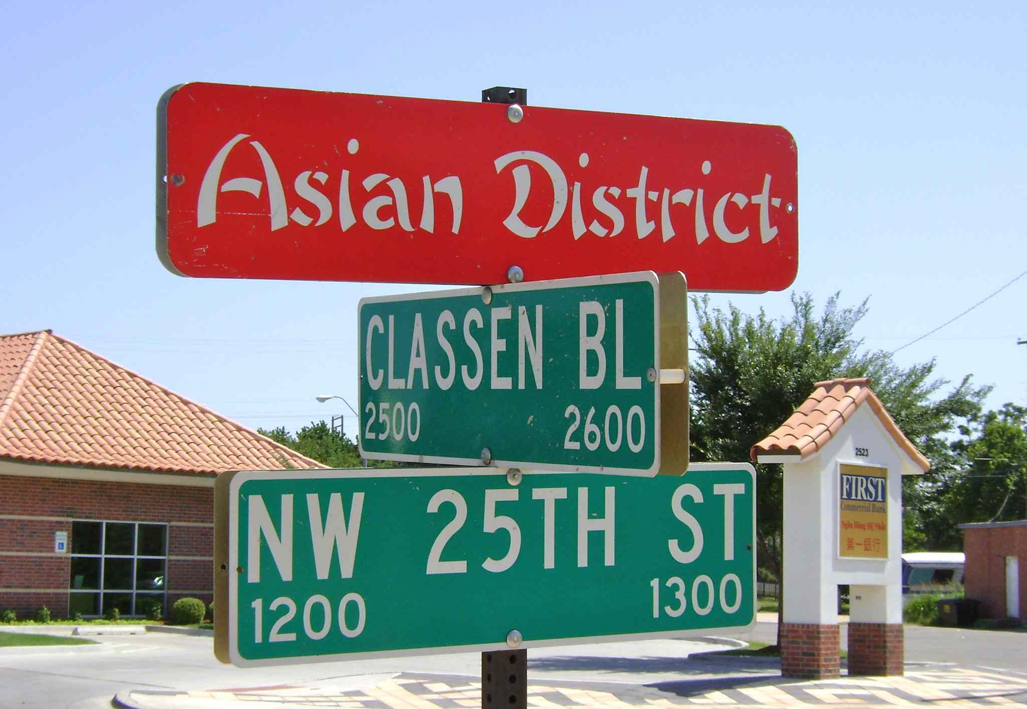 Asian District street sign