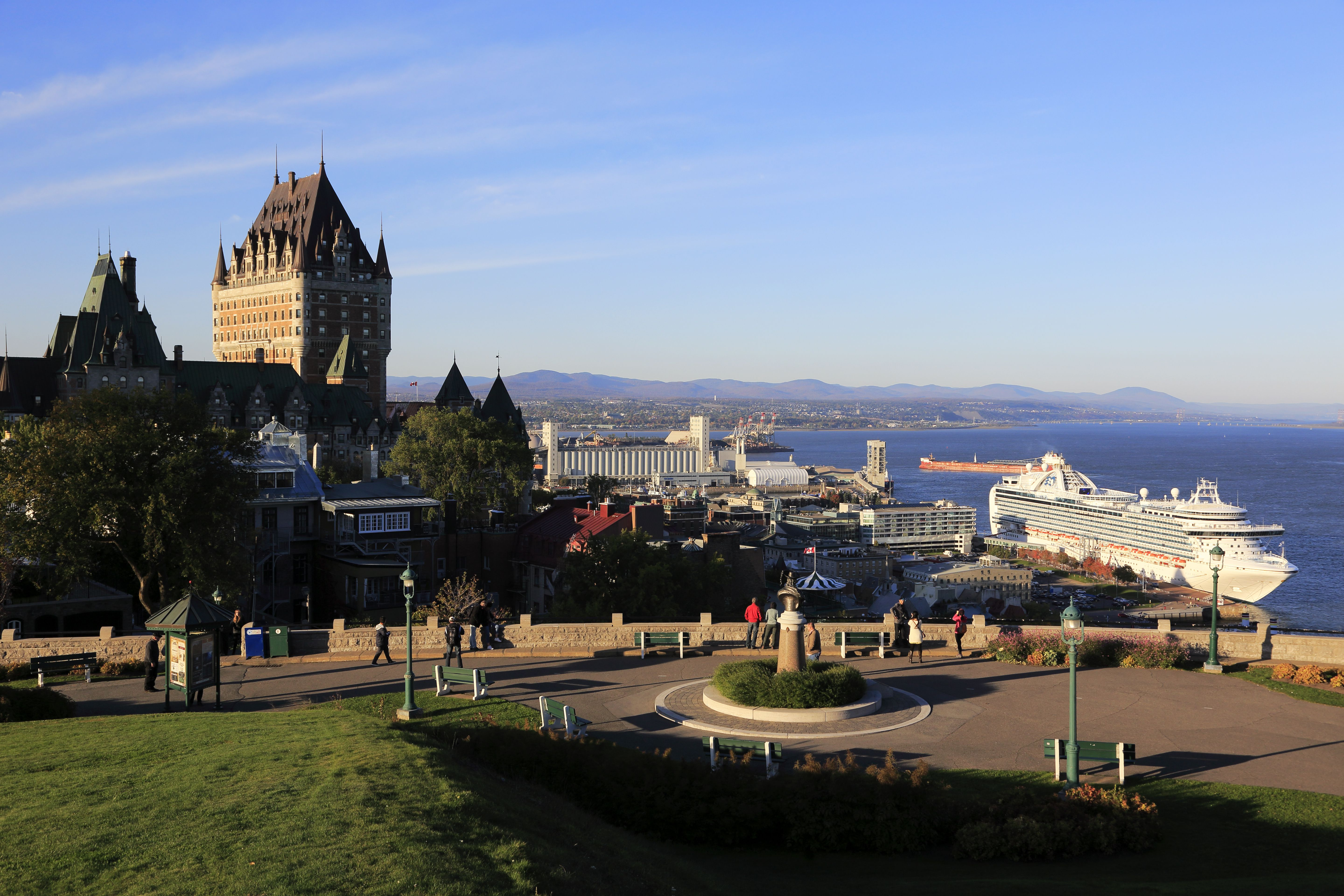 View of Quebec City and port