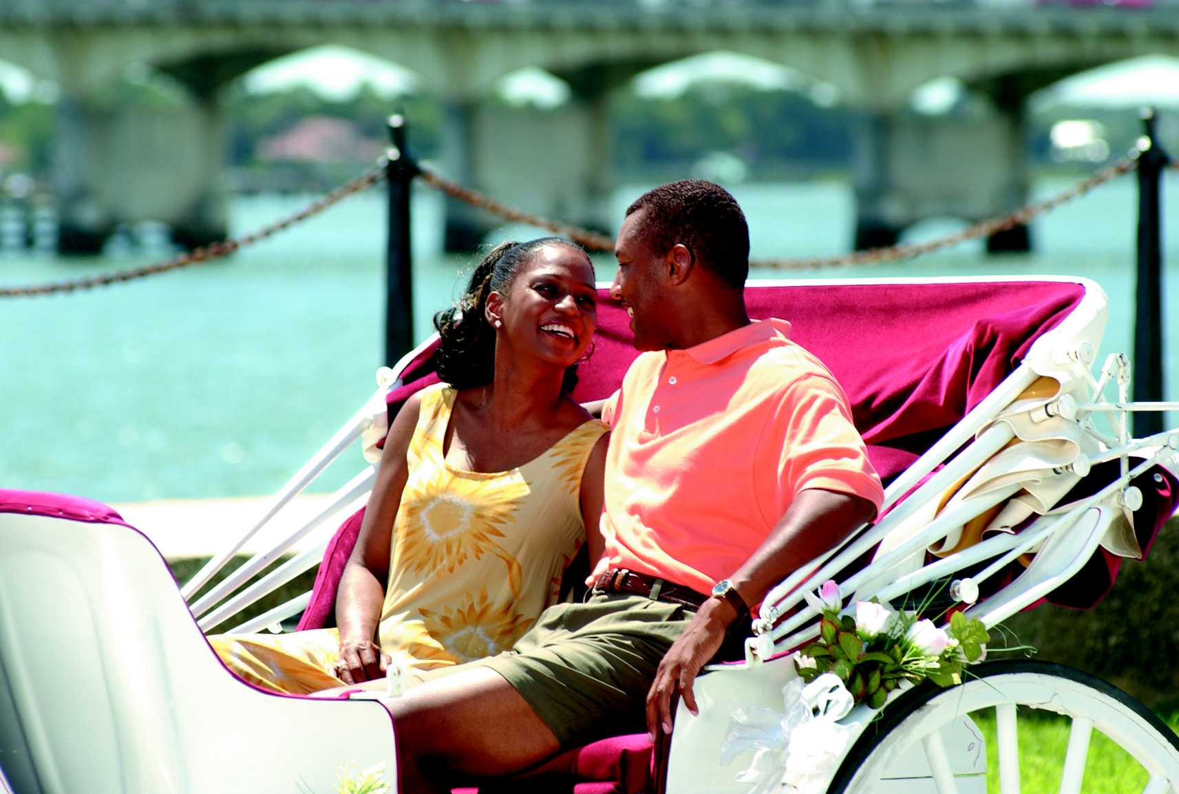 Tour St. Augustine's historic downtown and waterfront with a narrated carriage ride