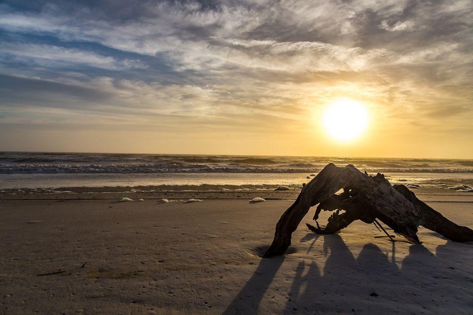 Sunset on Fernandina beach florida