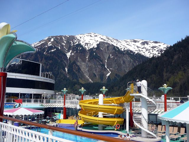 Pool with Juneau Scenery in the Background