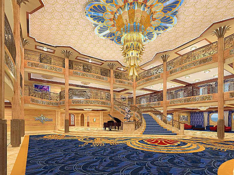 Disney Dream - Atrium Lobby - Photo courtesy of Disney Cruise Line.