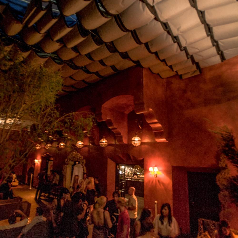 The smoking lounge at Bardot nightclub in Hollywood