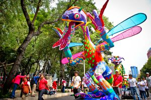 Giant Alebrijes Parade in Mexico City